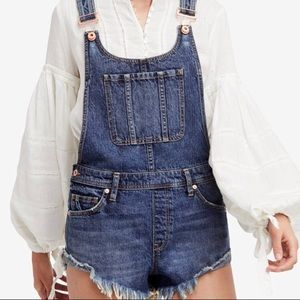 Free People Denim Shorts Overall